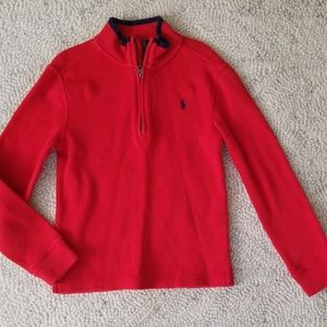 7 Red Polo Sweater